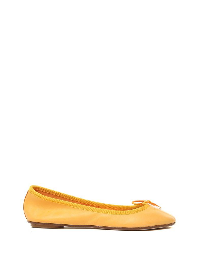 ANNA BAIGUERA Annette Leather Ballet Flats in Orange