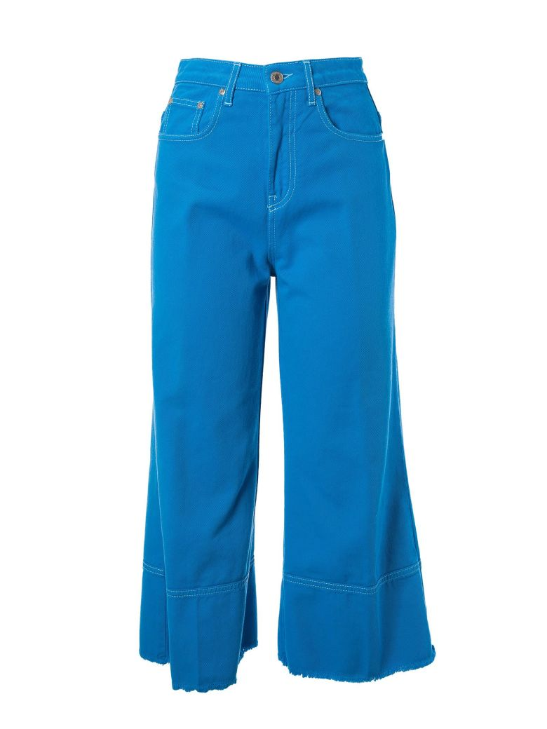 Solid Color Bull Denim Culotte Jeans Msgm yn2ZPwDo