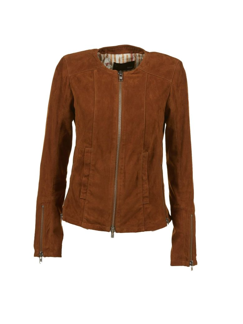 BULLY Leather Jacket in Tabacco