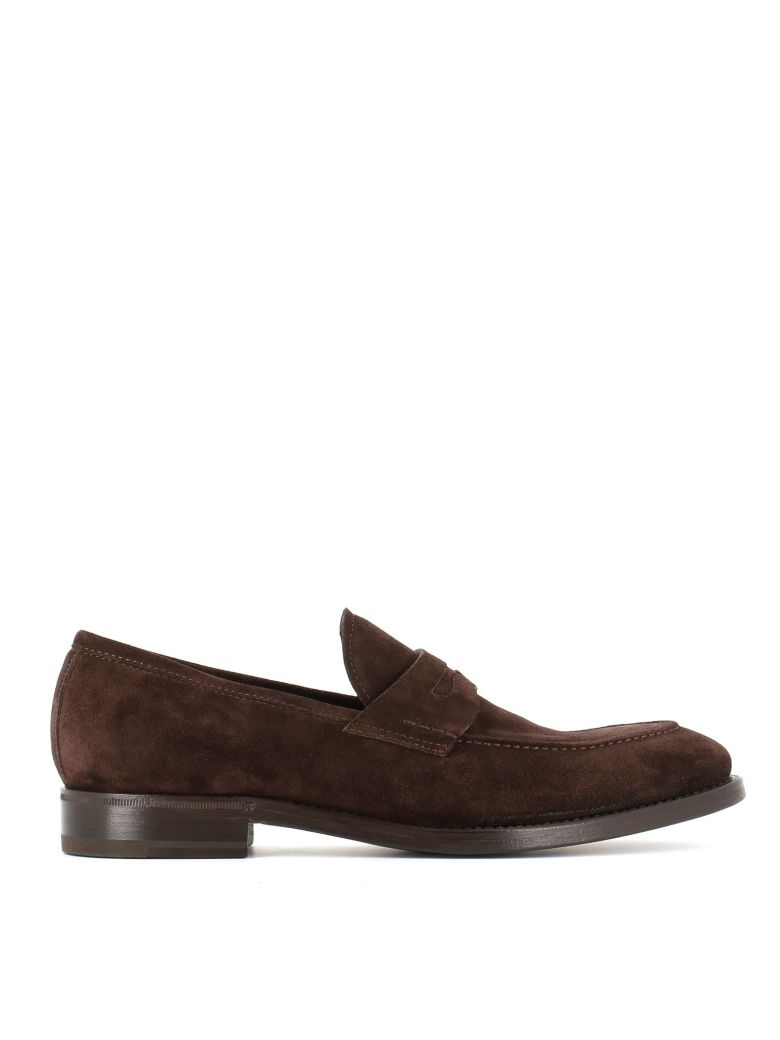 """HENDERSON Classic Penny Loafers """"51405B"""" in Brown"""