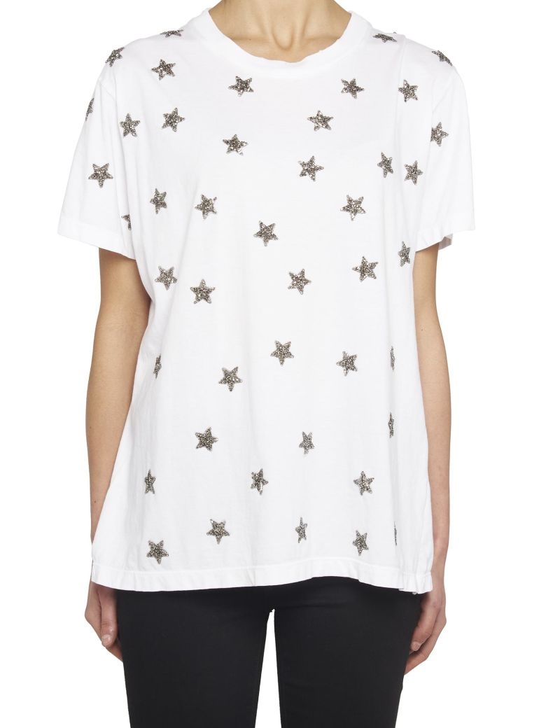 AS65 EMBELLISHED STAR DISTRESSED T-SHIRT