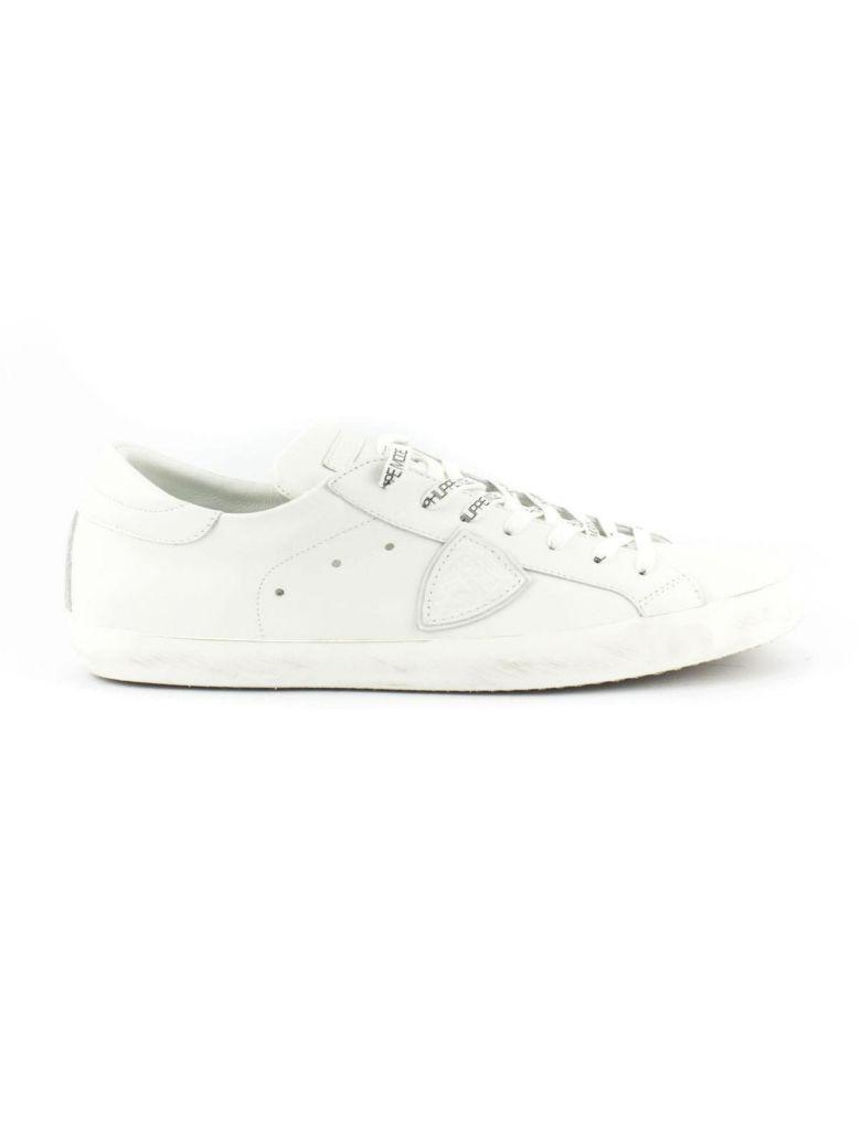 Sneaker En Cuir Blanc Paris GM1us9mV