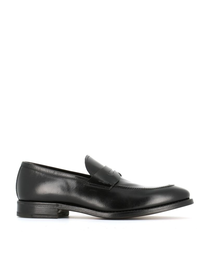 """HENDERSON Classic Penny Loafers """"51405B"""" in Black"""