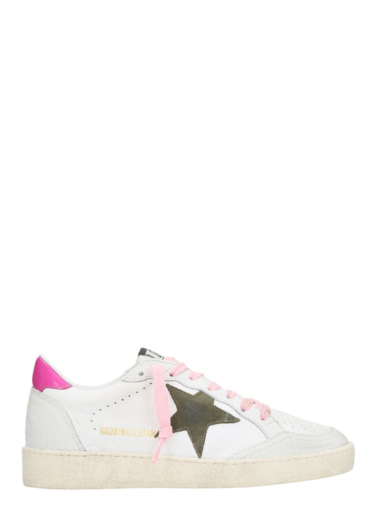 Sneakers Ball Star White Leather Olive Star