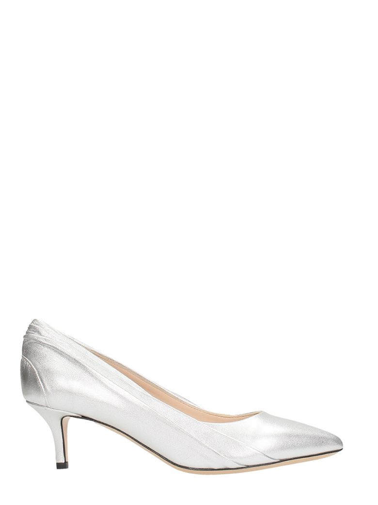 SILVER LEATHER PUMPS