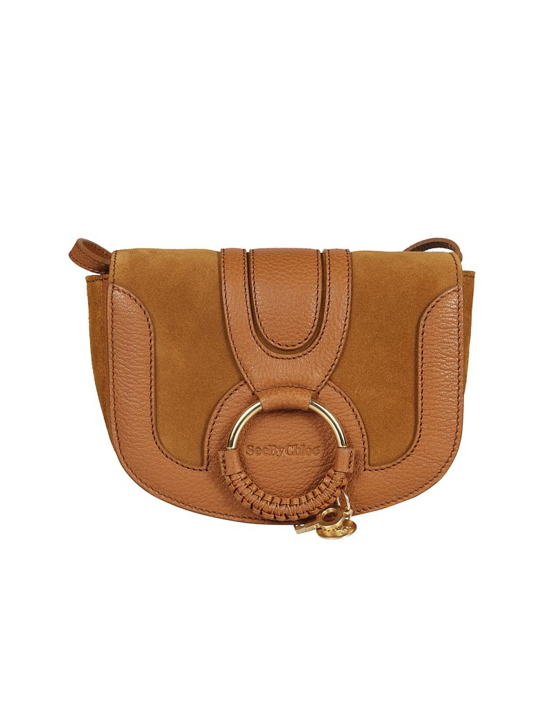 45532ceab173e See By ChloÉ Hana Small Patent-Leather And Suede Shoulder Bag In Marigold