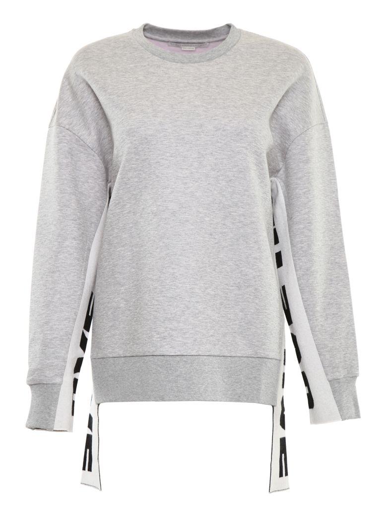 Embellished Cotton-Blend Sweatshirt in Grey