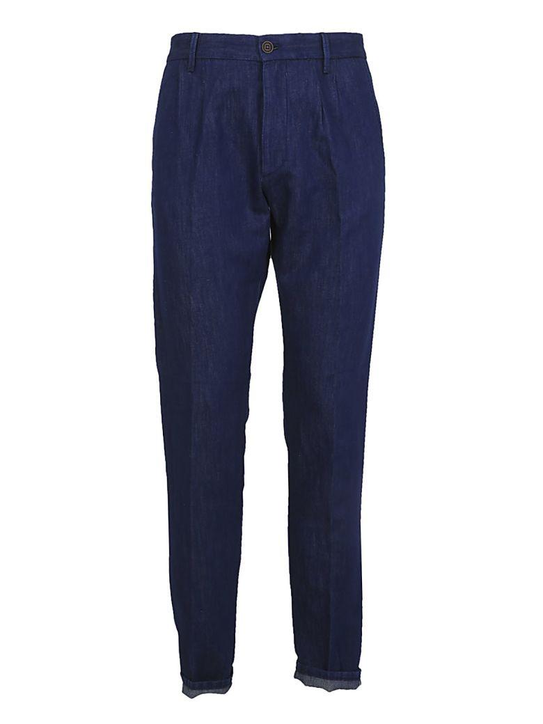 FORTELA Cotton Linen Jeans in Blue