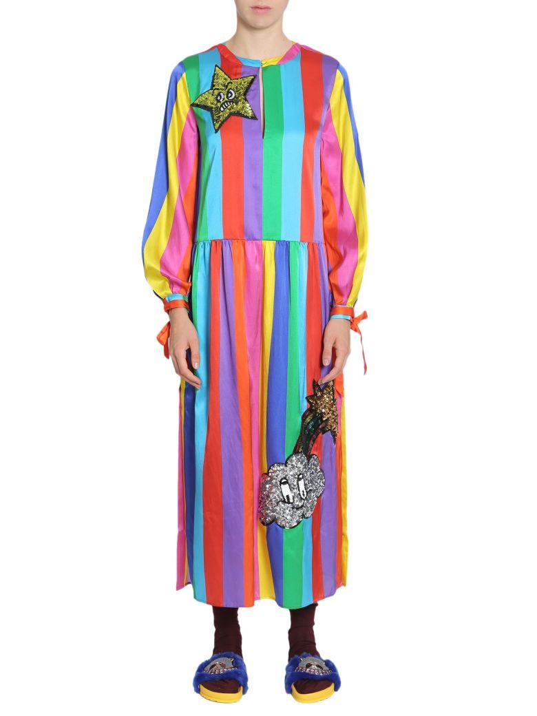 Sequin Monster Rainbow Dress in Multicolour