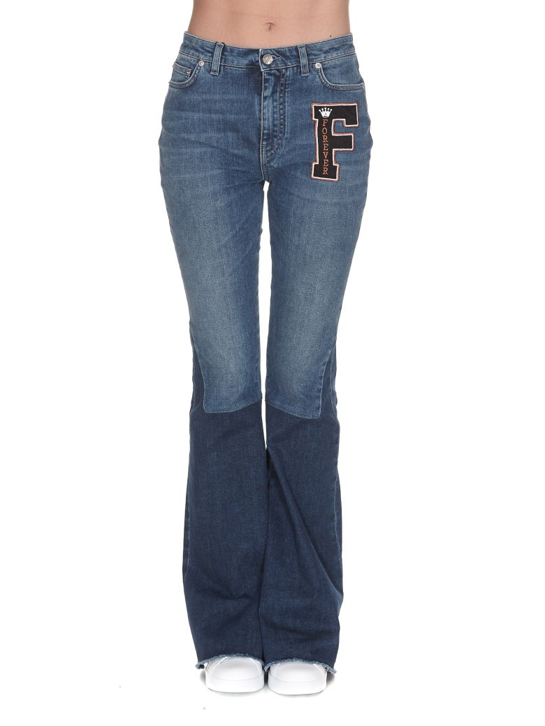 LOGO PATCH FLARED JEANS