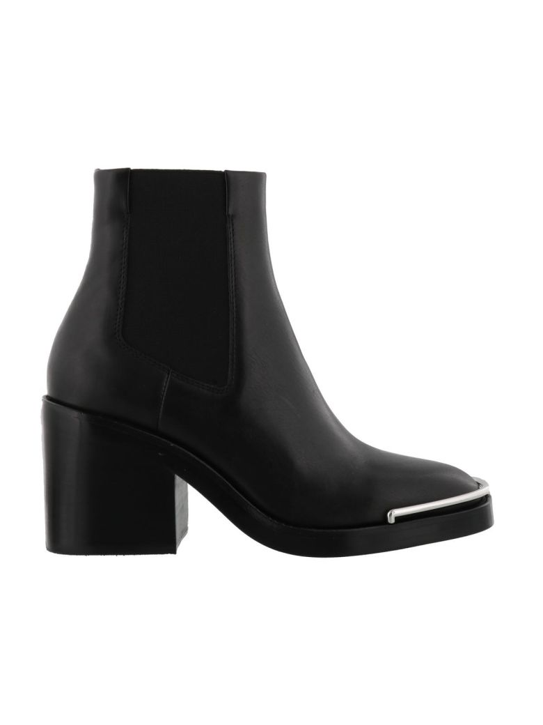 Hailey Chelsea Black Leather Ankle Boots
