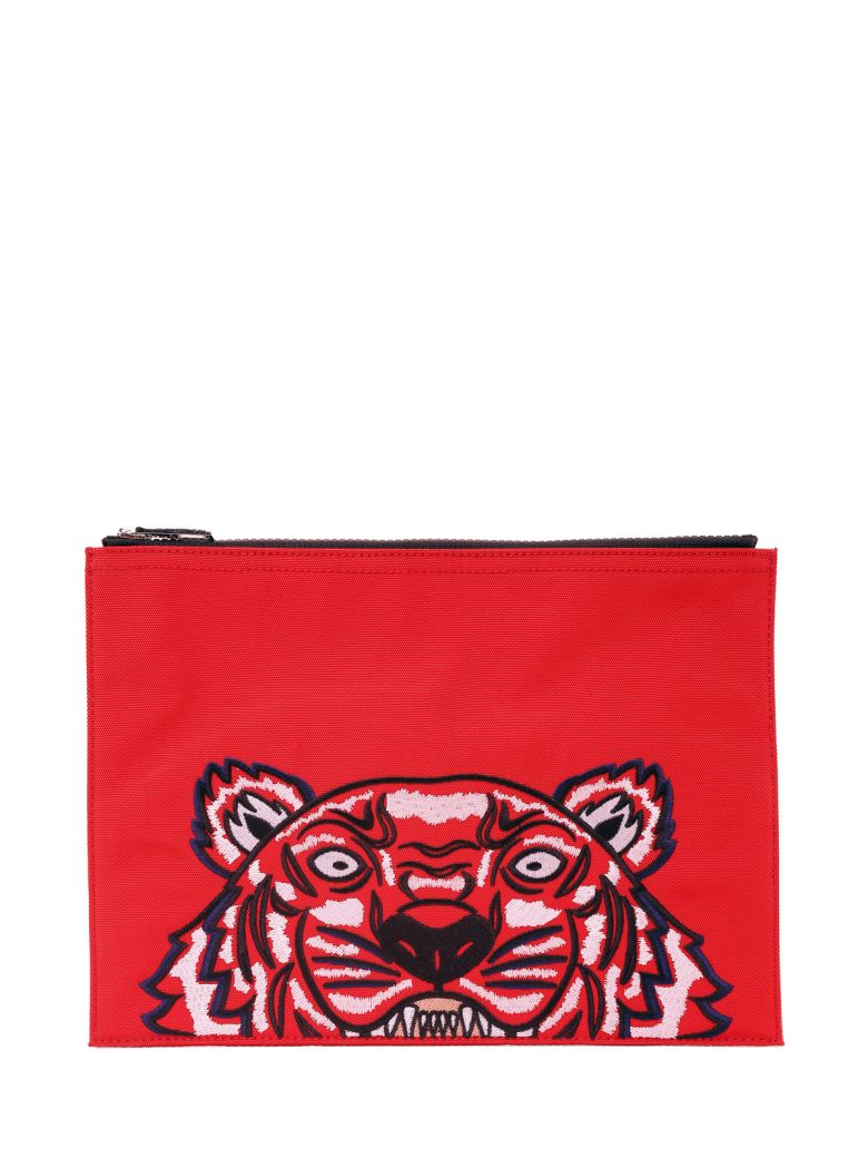 TIGER CANVAS CLUTCH
