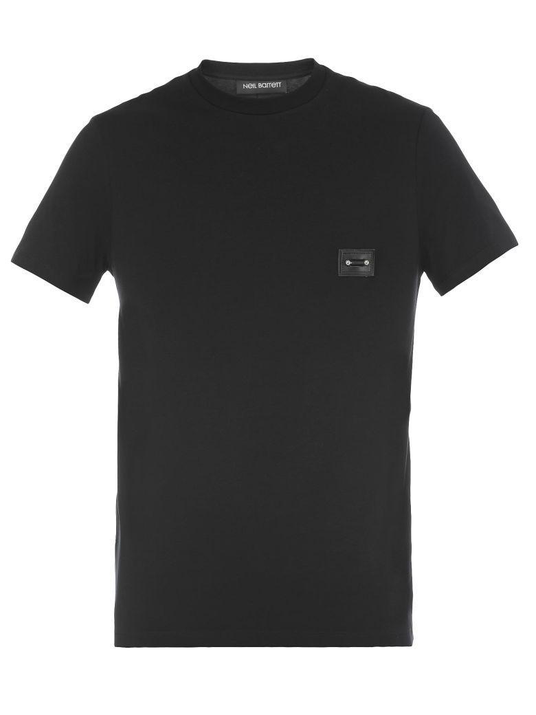 NEIL BARRETT Pierced T-Shirt, Black