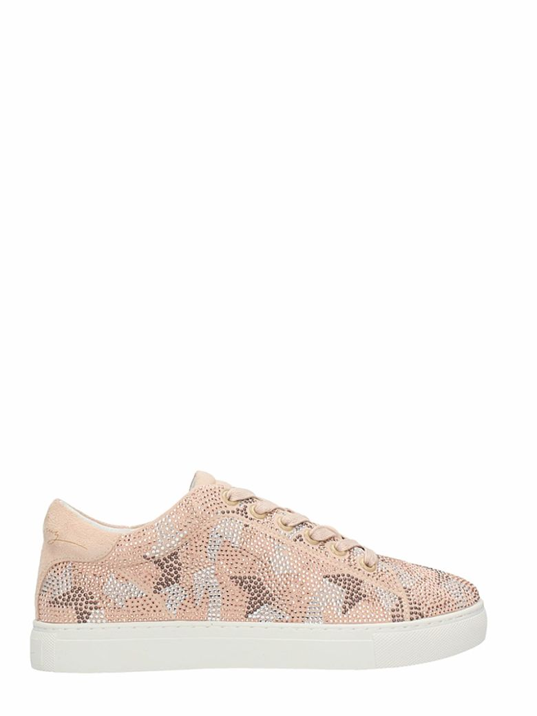 NUDE SUEDE STRASS STARS SNEAKERS