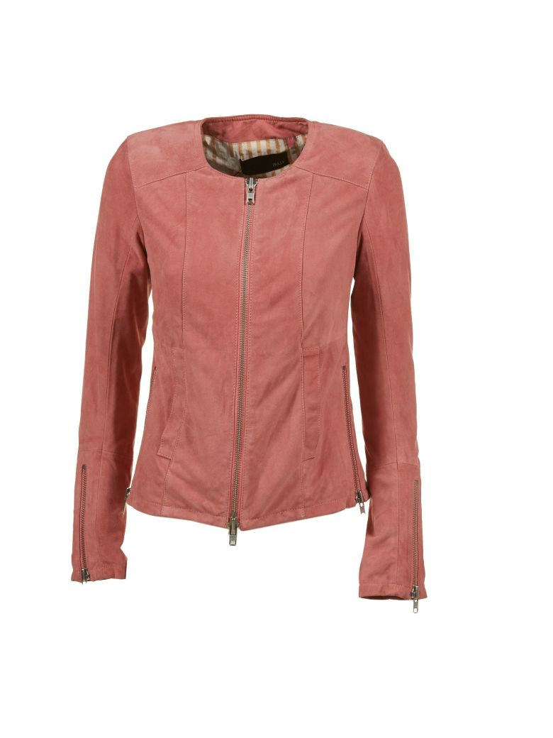 BULLY Leather Jacket in Rosa Scuro