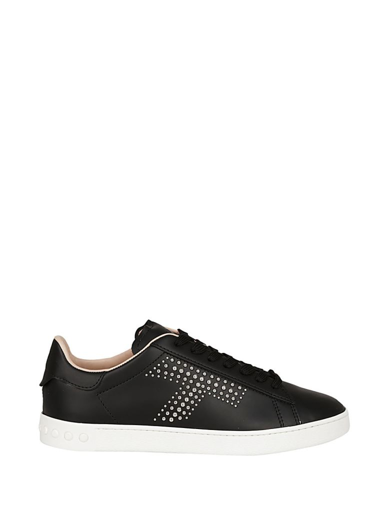 Sportivo Studded Sneakers in Black Calfskin Tod's