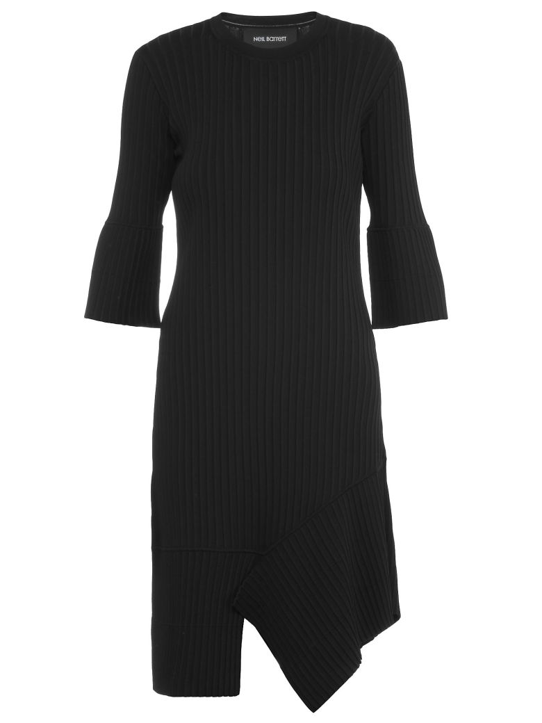 Ribbed Dress, Black