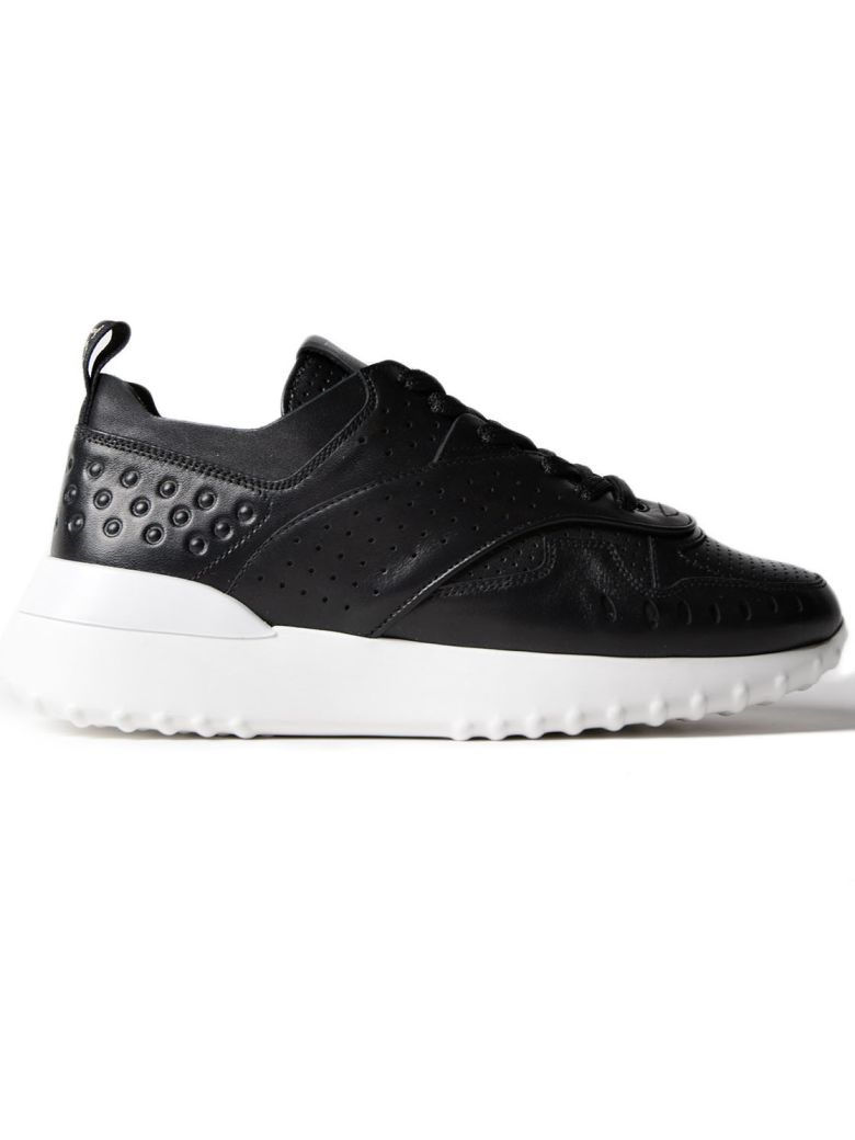 Platform Lace-Up Sneakers in Black from TOD'S