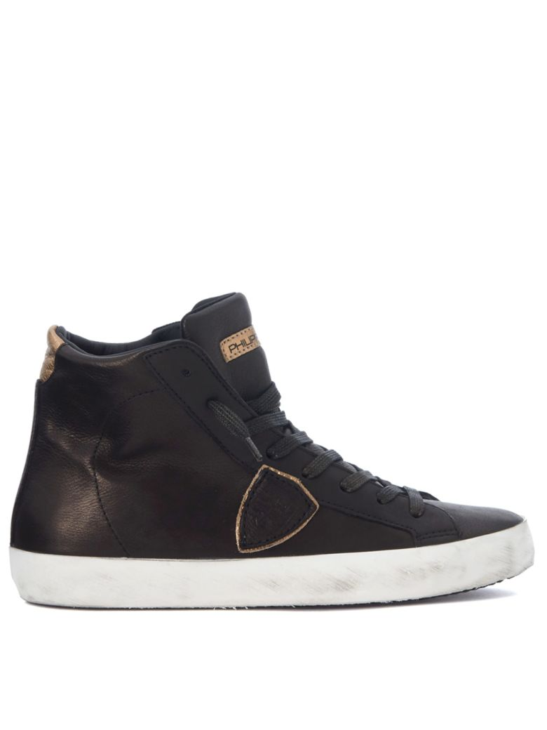 PARIS BRONZE AND GOLD LEATHER SNEAKER