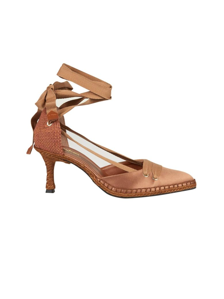 CASTAÑER BY MANOLO BLAHNIK Castaner Medium High Heel Sandals in Fango