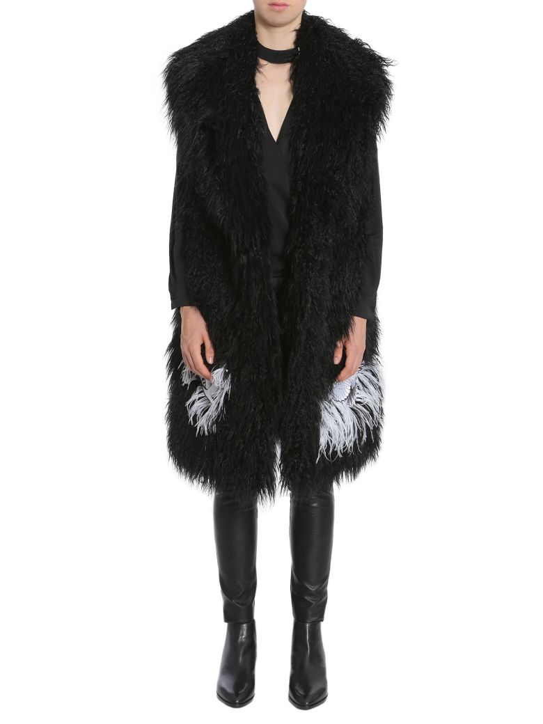 AINEA Feather Eco Fur in Black