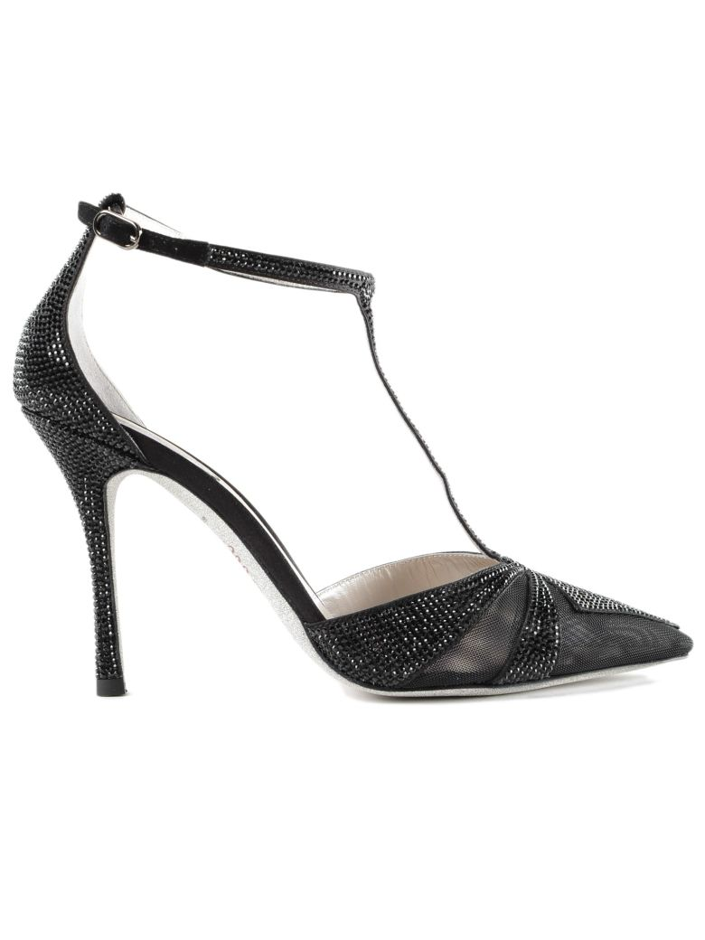 embellished ankle-strap pumps - Black Rene Caovilla Free Shipping 2018 Newest poR5dx