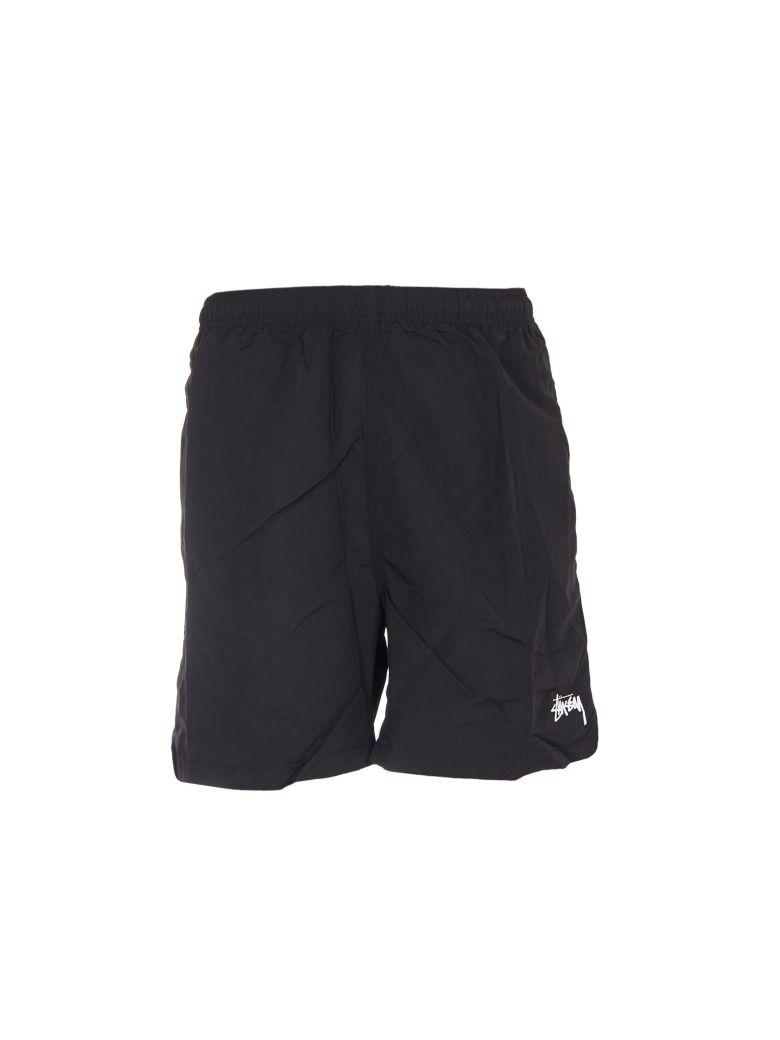 STUSSY Stock Water Swim Shorts in Black