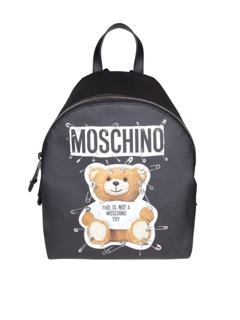 "Moschino  ""TEDDY"" BACKPACK BLACK COLOR"