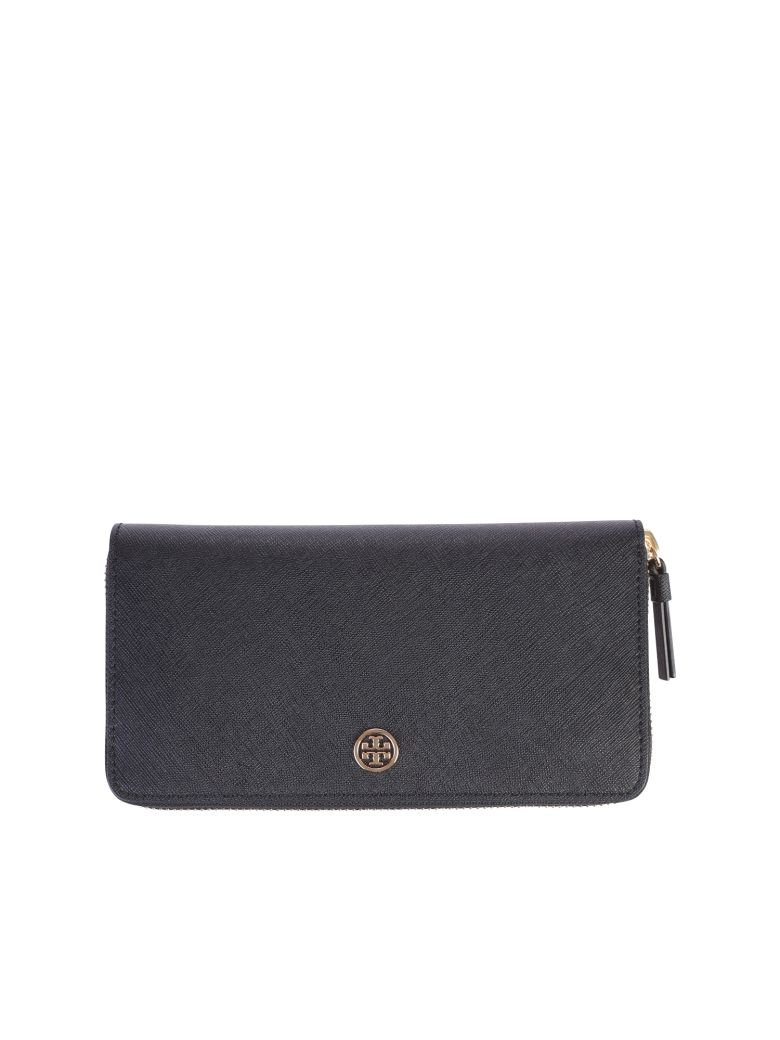 BLACK ROBINSON ZIP ARPUND WALLET