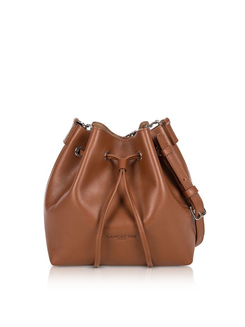 LANCASTER Pur Treasure Small Bucket Bag in Cognac