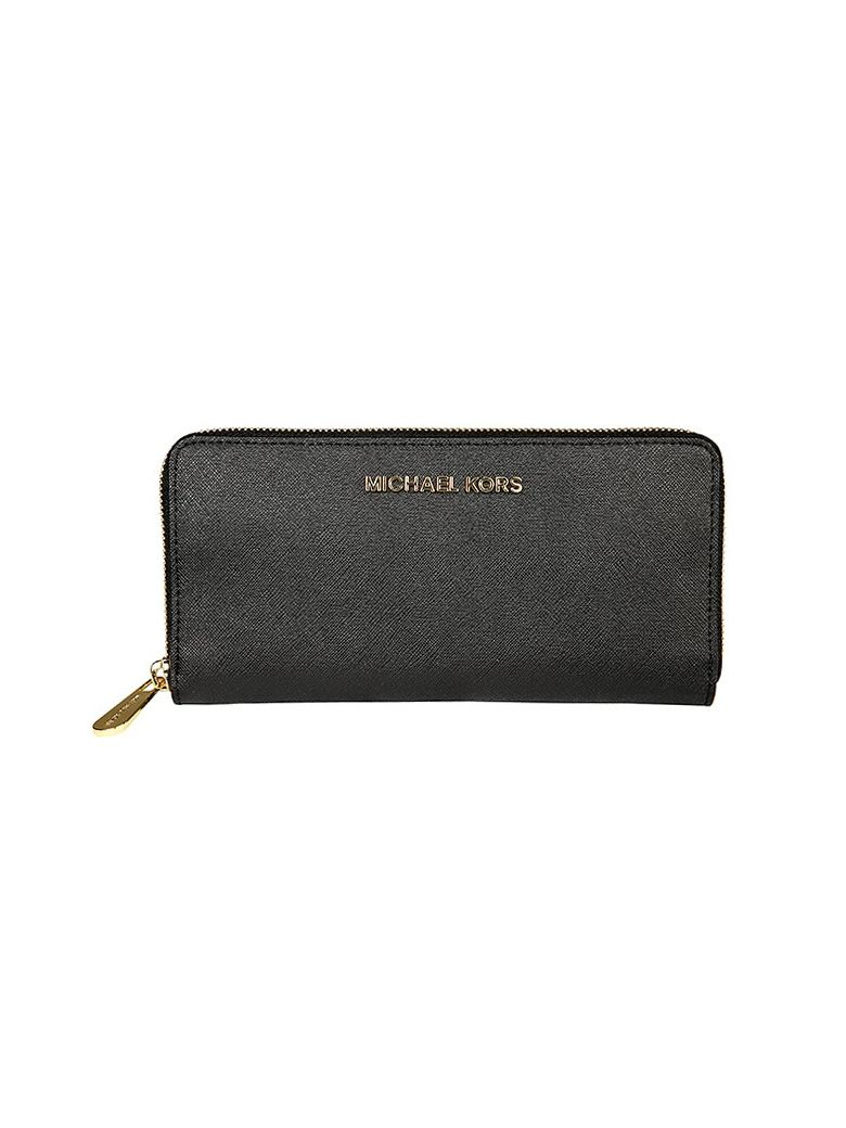 JET SET TRAVEL CONTINENTAL WALLET MICHAEL MICHAEL KORS BLACK