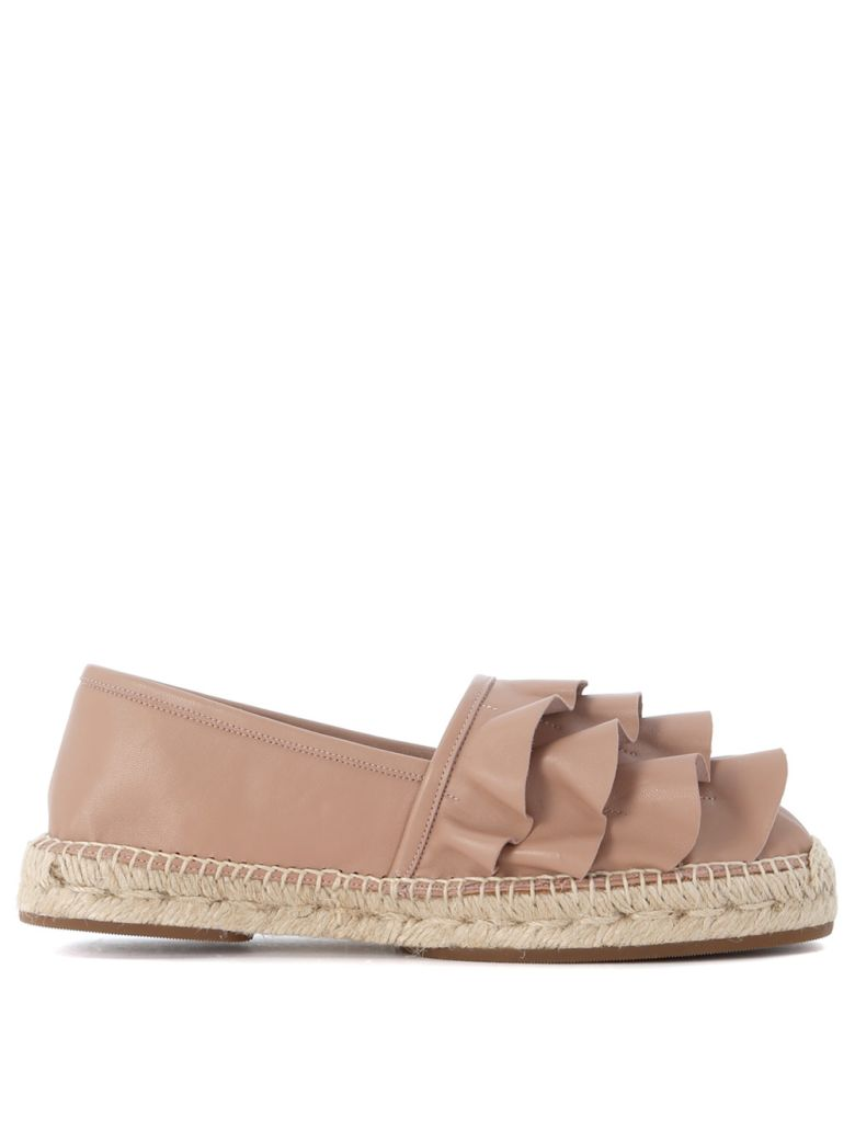 CHIE MIHARA PLIEGO BEIGE LEATHER ESPADRILLAS