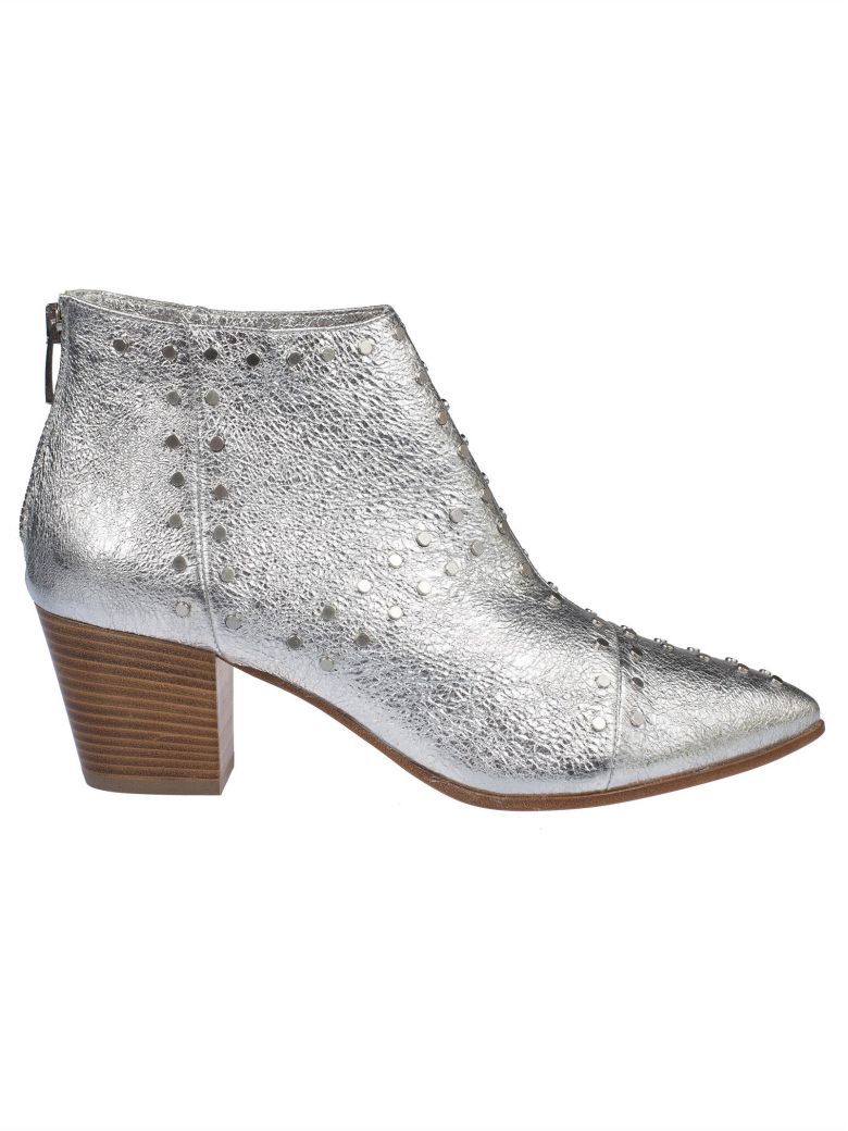 JANET & JANET STUDDED ANKLE BOOTS