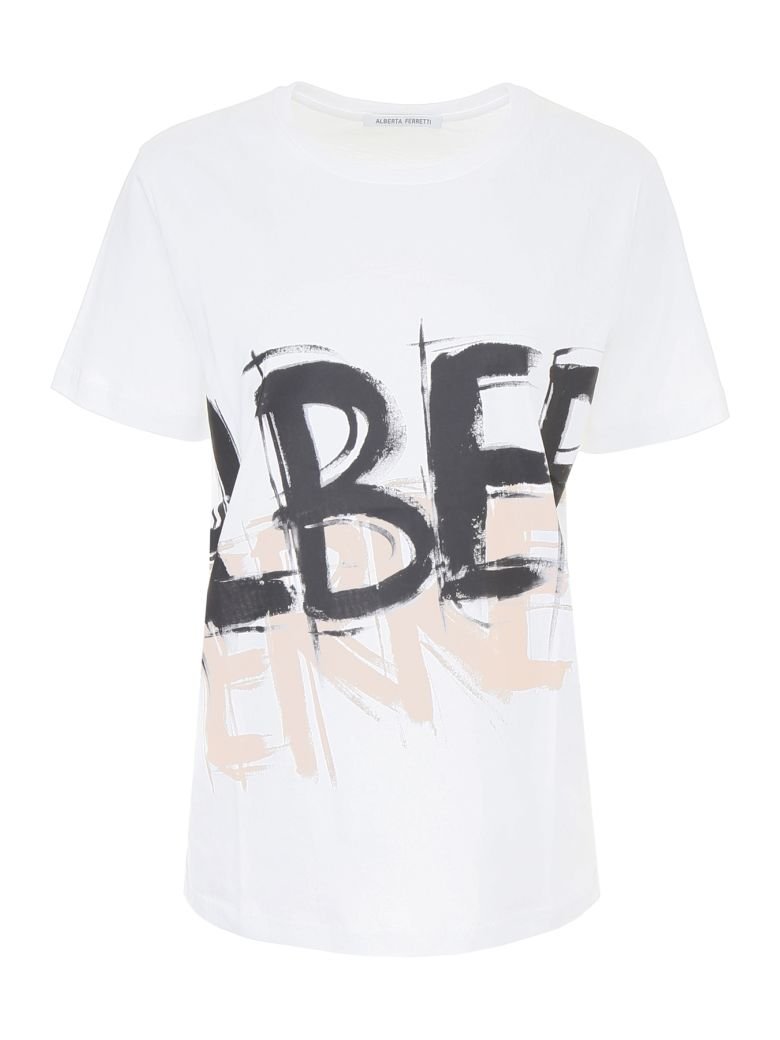 graphic logo long T-shirt - White Alberta Ferretti rcF8X07az4