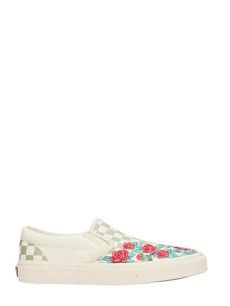 Classic Slip On Roses Sneakers, Black White Checker