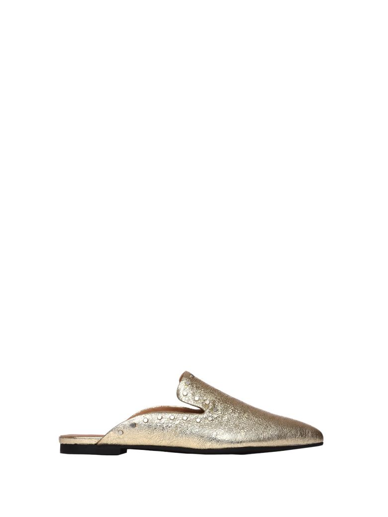 JANET & JANET LEAH GOLD SLIPPERS