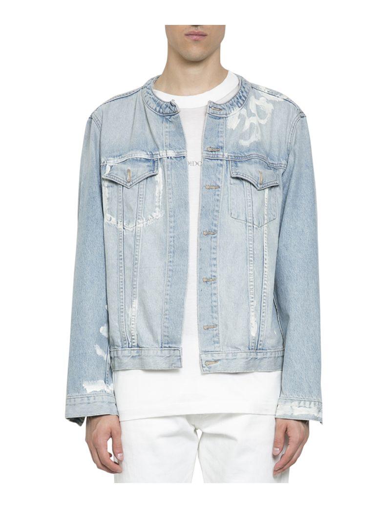 IH NOM UH NIT Printed Denim Cotton Jacket in Blue