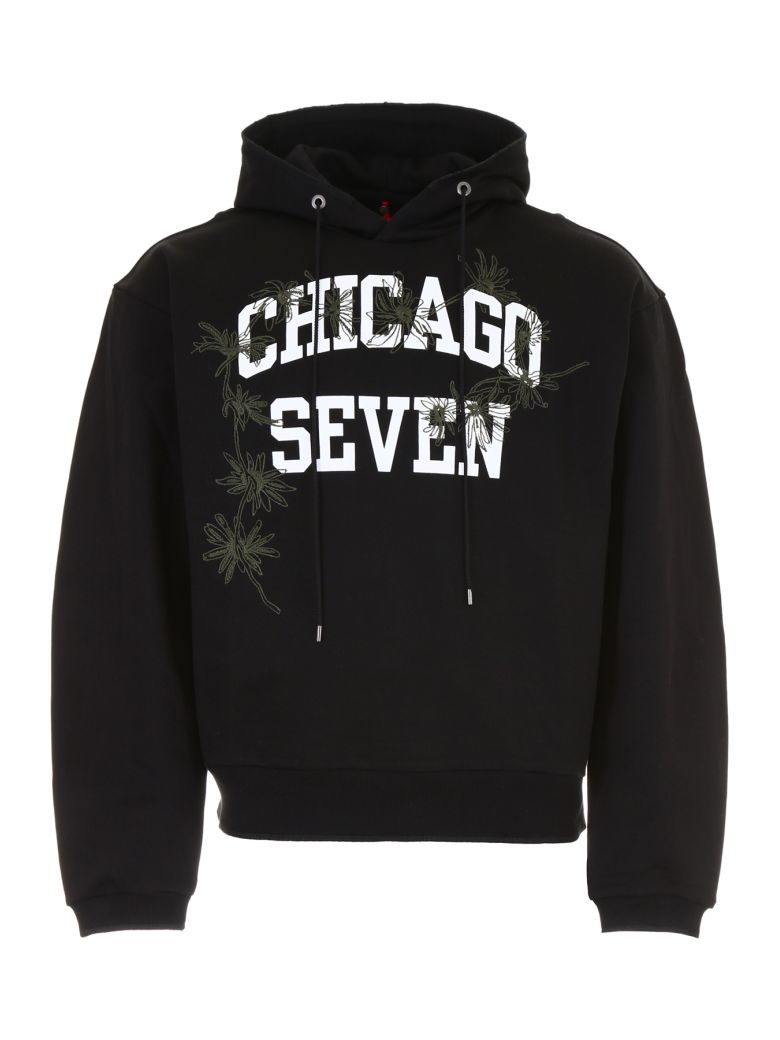 "OAMC ""Chicago Seven"" Cotton Hoodie - Black Size Xl"
