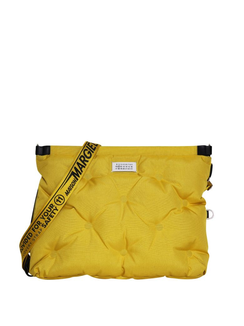 maison margiela yellow glam slam quilted bag