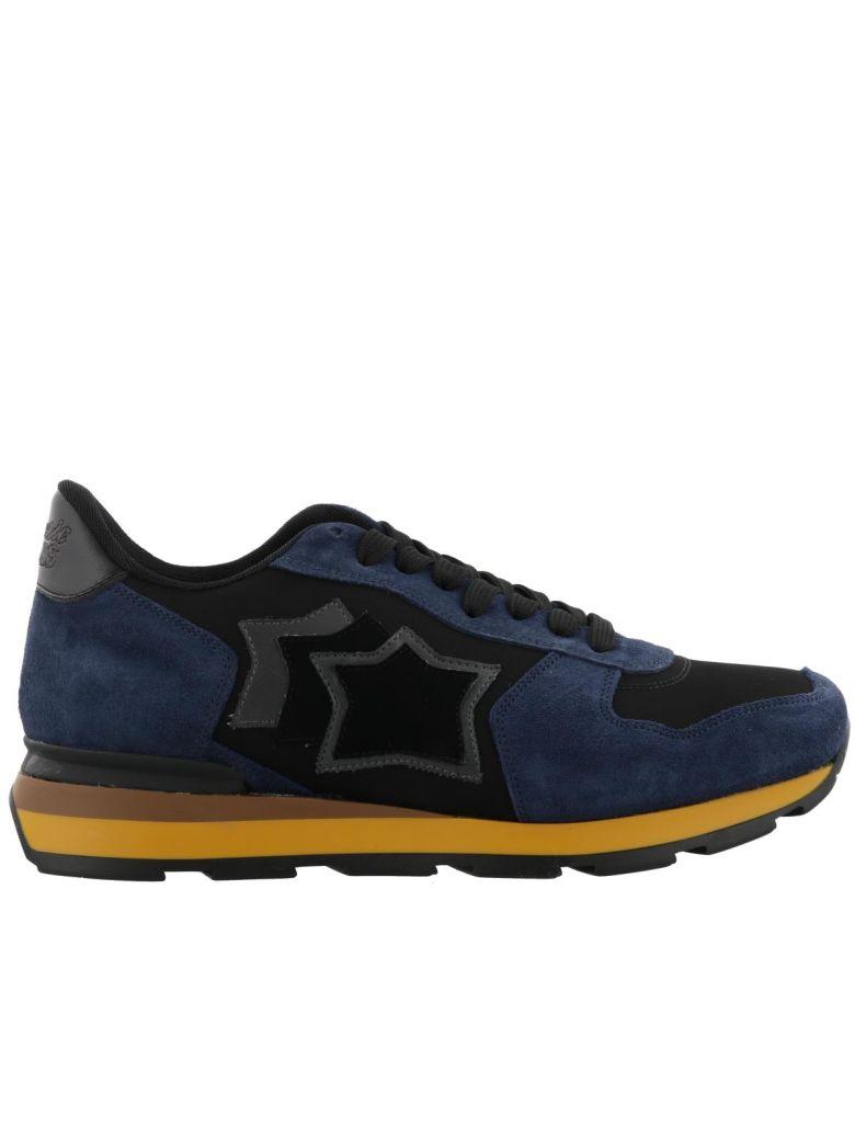 ATLANTIC STARS Suede Sneakers Antares Nhn 03N in Black