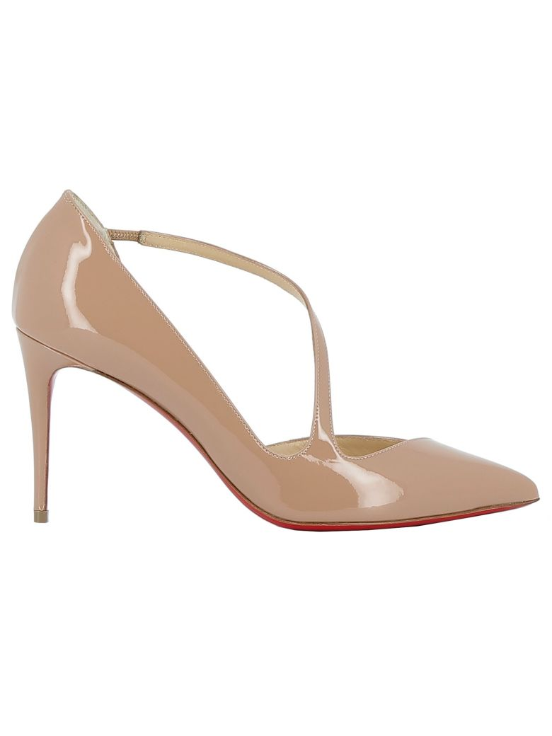 buy online 9d894 a0aa0 Shoptagr | Christian Louboutin Nude Patent Leather Sandals ...