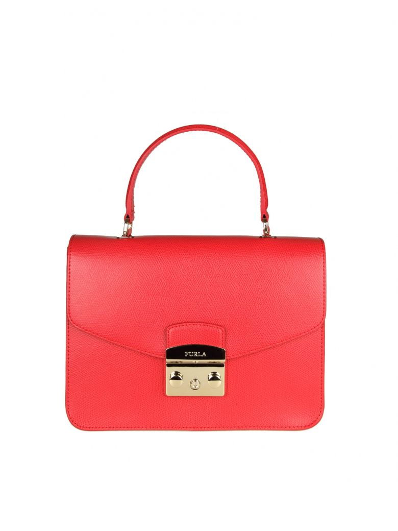 METROPOLIS S HAND BAG IN RED LEATHER