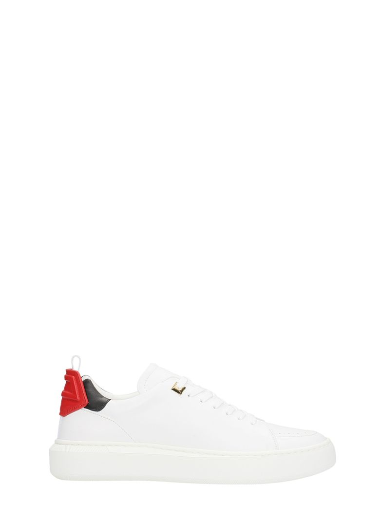 Buscemi WHITE LEATHER SNEAKERS