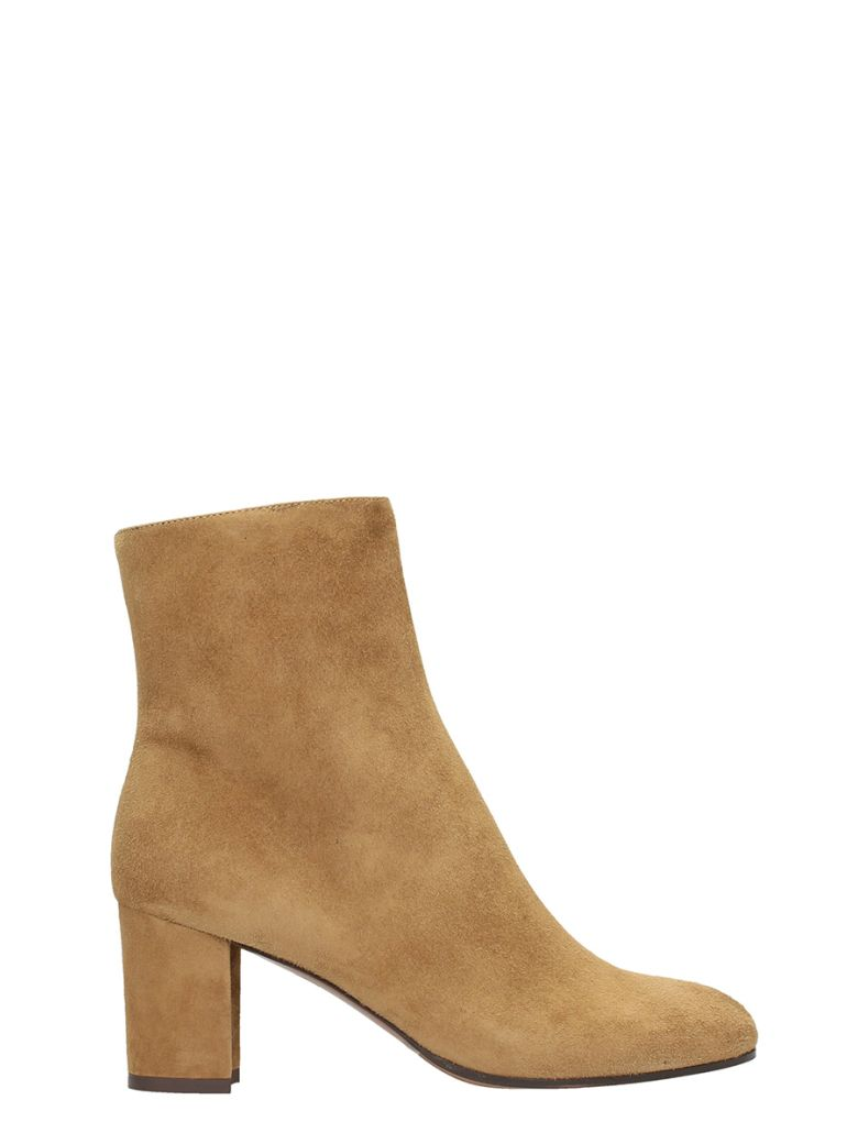 LAUTRE CHOSE CAMEL SUEDE LEATHER ANKLE BOOTS