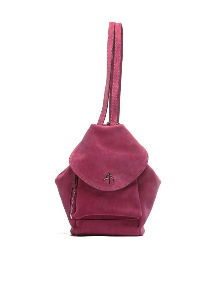 Manu Atelier Fernweh Mini Logo Backpack in Fuxia