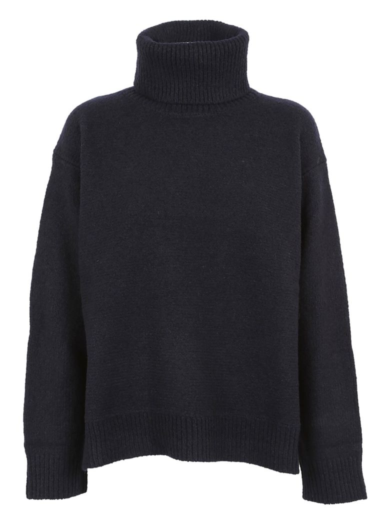 ZUCCA Elbow Patch Sweater in Blue