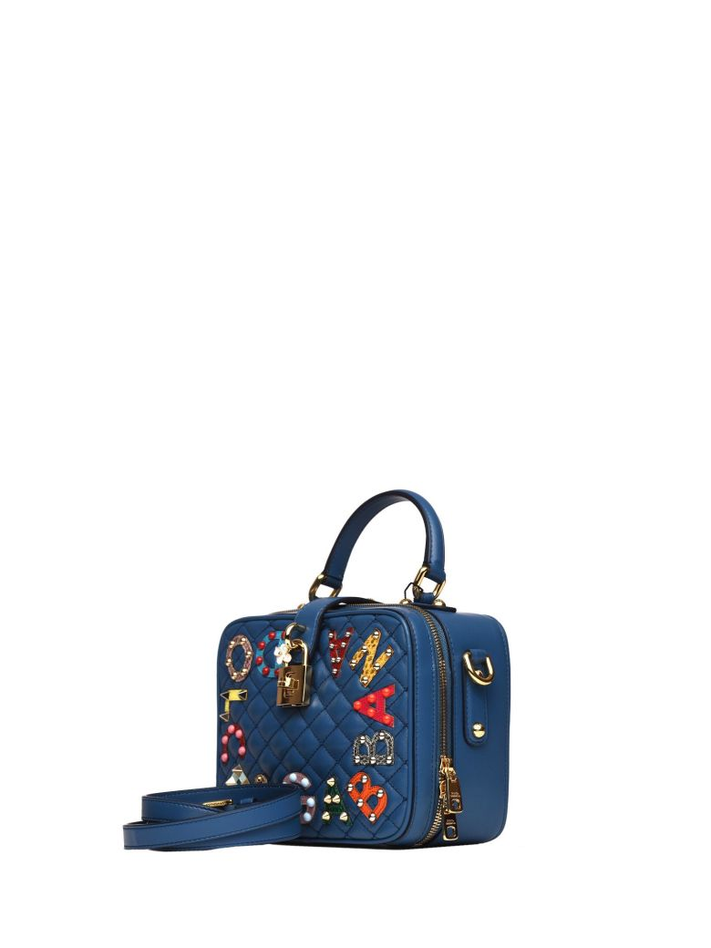 Dolce   Gabbana Dolce Soft Bag In Blue Matelasse Nappa Leather In Blu Marino f36e00273fd36
