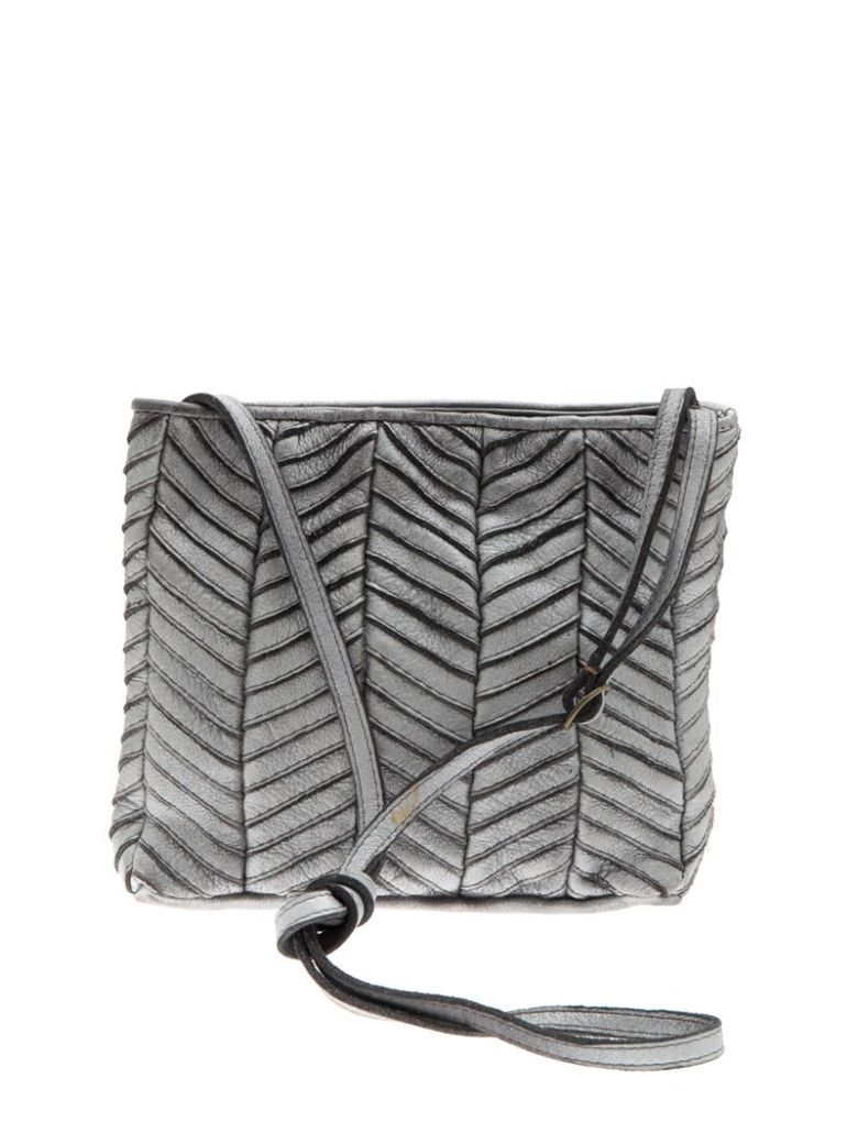MAJO - Leather Bag in Silver