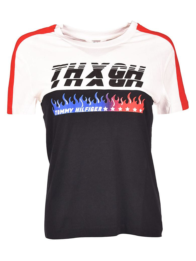 TOMMYXGIGI T-Shirt in Black/White