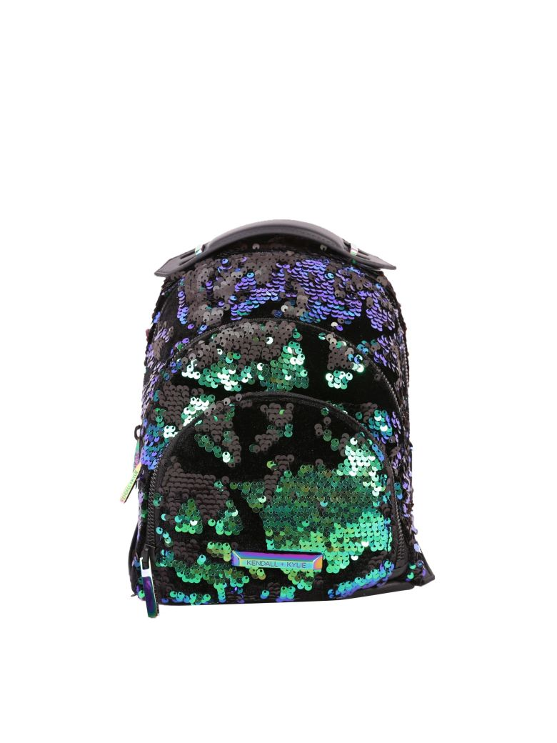 Sequined Backpack, Iridescent
